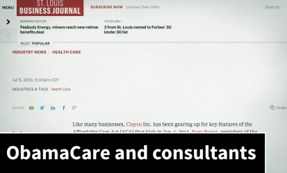 ObamaCare increases consultants' demand