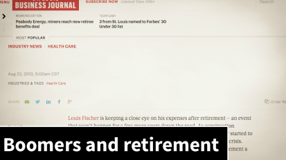 Are boomers ready forretirement?