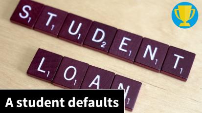 Despite pending default, former student attendsclass