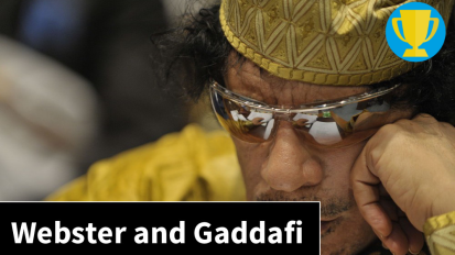 Webster and the Gaddafi regime: a perplexinghistory