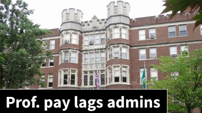 Administrator pay raises outpace professors'salaries